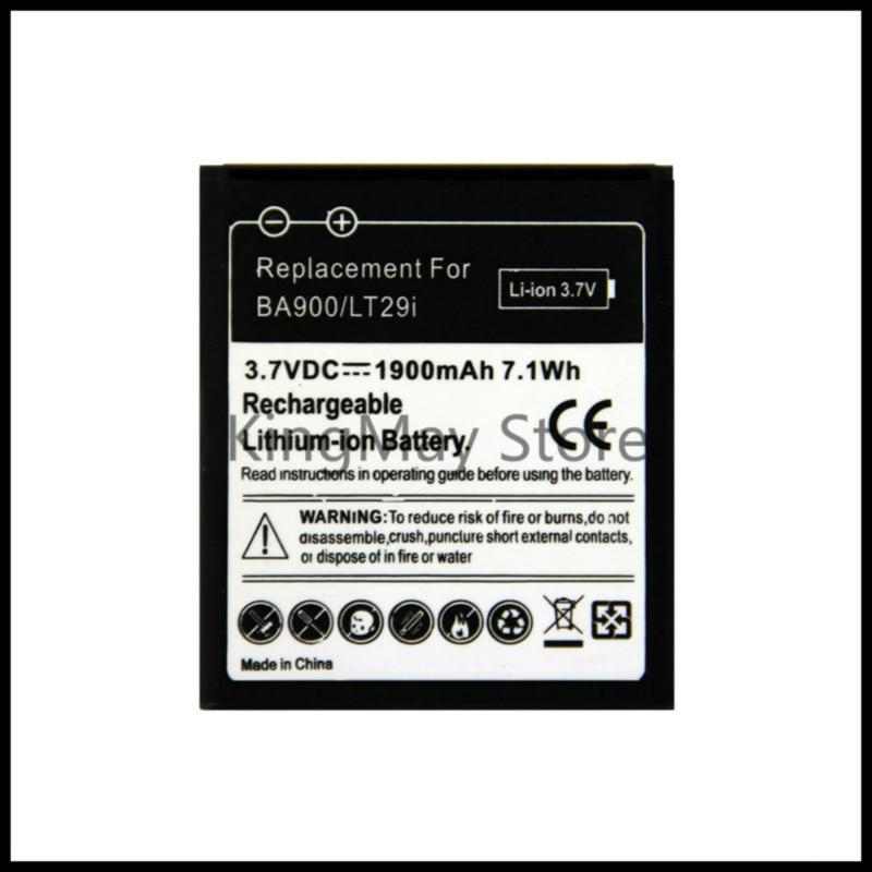 Para sony ba900 bateria c1905 para sony ericsson xperia tx lt29i s36h c2105 e1 j l m c2104 c1904 c1905 st26i bateria ba900