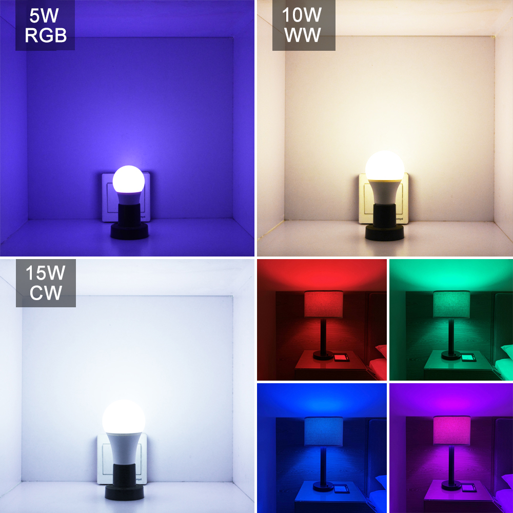 Image 2 - E27 LED 5/10/15W 16 Color Changing Magic Bulb 220V 110V RGB + White Remote Smart Light lamp Dimmable Memory + IR Remote Control-in LED Bulbs & Tubes from Lights & Lighting
