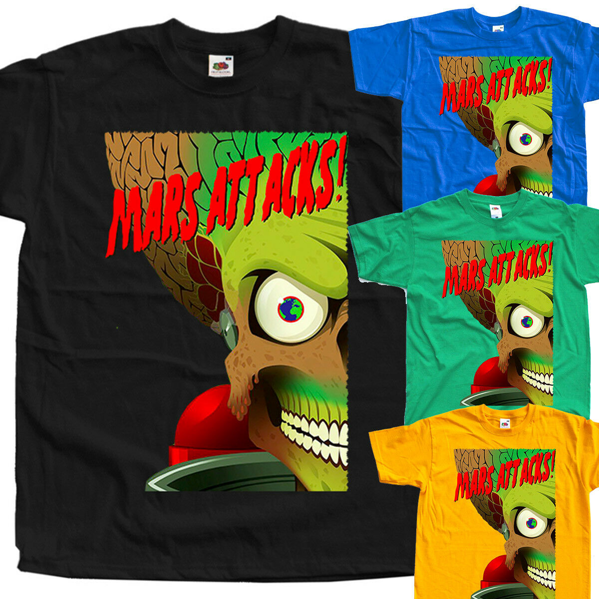 Mars Attack V17 movie poster T SHIRT BLACK all sizes S to 5XL