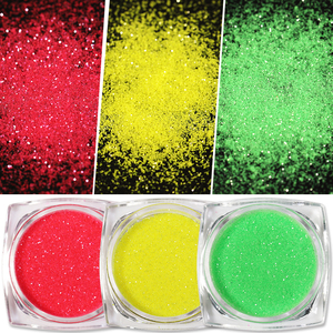 Image 4 - 10Ml Fuzzy Flockingฝุ่นที่มีสีสันสำหรับDIYเล็บตกแต่งคริสต์มาสกำมะหยี่เล็บGlitterผงสำหรับเล็บ