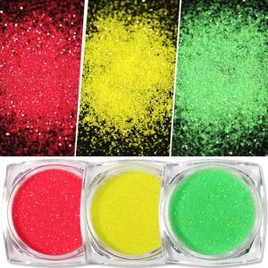 Image 4 - 10Ml Fuzzy Stroomden Kleurrijke Stof Voor Diy Nail Kerst Decoratie Fluwelen Nail Glitter Poeder Voor Nagellak