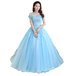 Gryffon Quinceanera Dresses Luxury Party Dress Off The Shoulder Lace Embroidery Prom Ball Gown Vintage Formal Quinceanera Dress