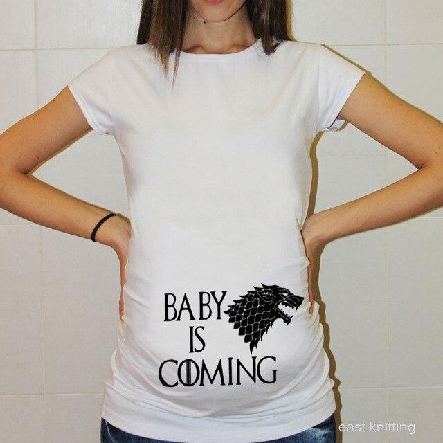 Camisetas de maternidad divertidas de talla grande 4