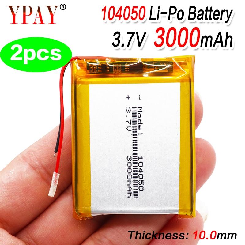 2 шт., литий-ионные полимерные аккумуляторы 3,7 в, 3000 мАч