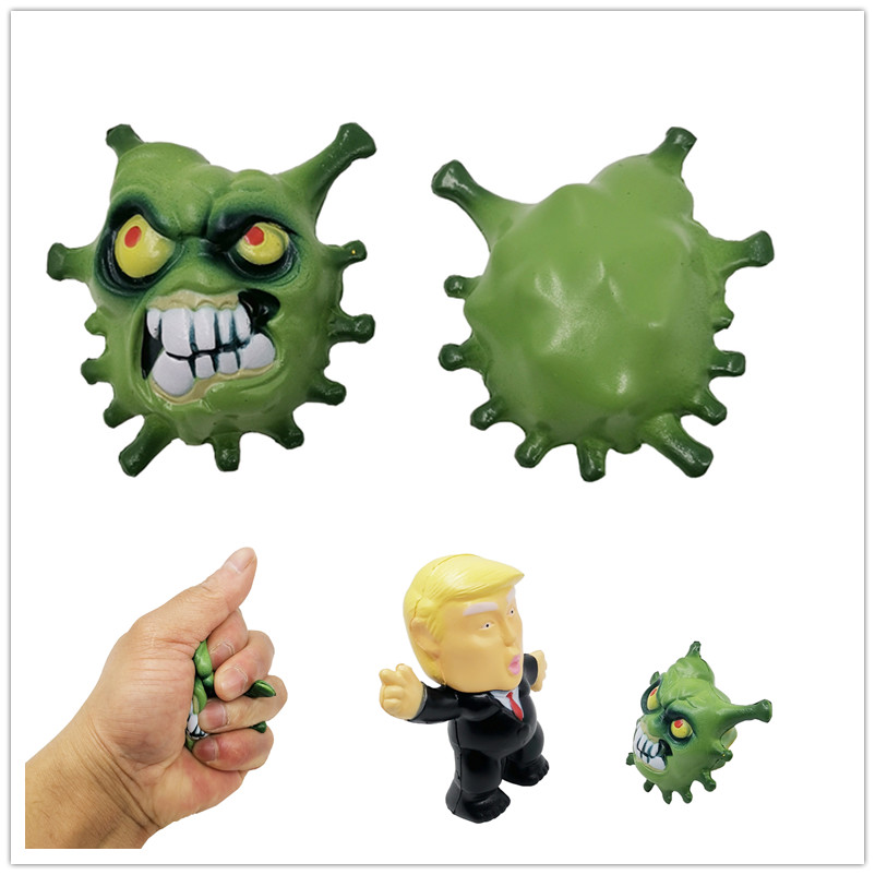 Squishy Toy Trump And Molecular Biology Emotion Vent Ball Stress Relieve Adult Decompression Anti Stress Ball Cool Novelty Toys