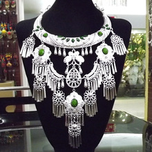 Wind-Network Butterfly Necklace Female Jewelry National Large-Collar Thai Women's