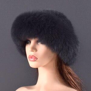 Image 3 - Phụ nữ Thật Lông chồn Máy Bay Ném Bom Nón Mùa Đông Chính Hãng Fox vải lông Sang Trọng Chất Lượng Mùa Đông nón Thun Ấm Nỉ Mềm tự nhiên mũ lông thú