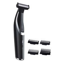 Триммер для волос на лице и теле, перезаряжаемая профессиональная бритва, бритва, электрический USB триммер для удаления волос, машинка для стрижки волос, мужской уход