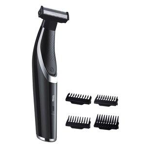 Image 1 - Twarz ciało włosy trymer broda akumulator profesjonalna brzytwa golarka elektryczna USB depilator ścinanie włosów maszyna mężczyzna pielęgnacja