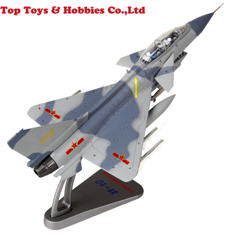 Kids Toys 1:72 Alloy Diecast Aircraft Model 1/72 Scale Alloy J-10 Aircraft Fighter Camouflage Two Seat Airplane Model Toy