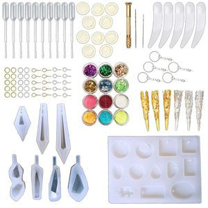 DIY Crystal Pendulum Mold Set Silicone Resin Pendant Jewelry Casting Mould Necklace Making Tool Crafts