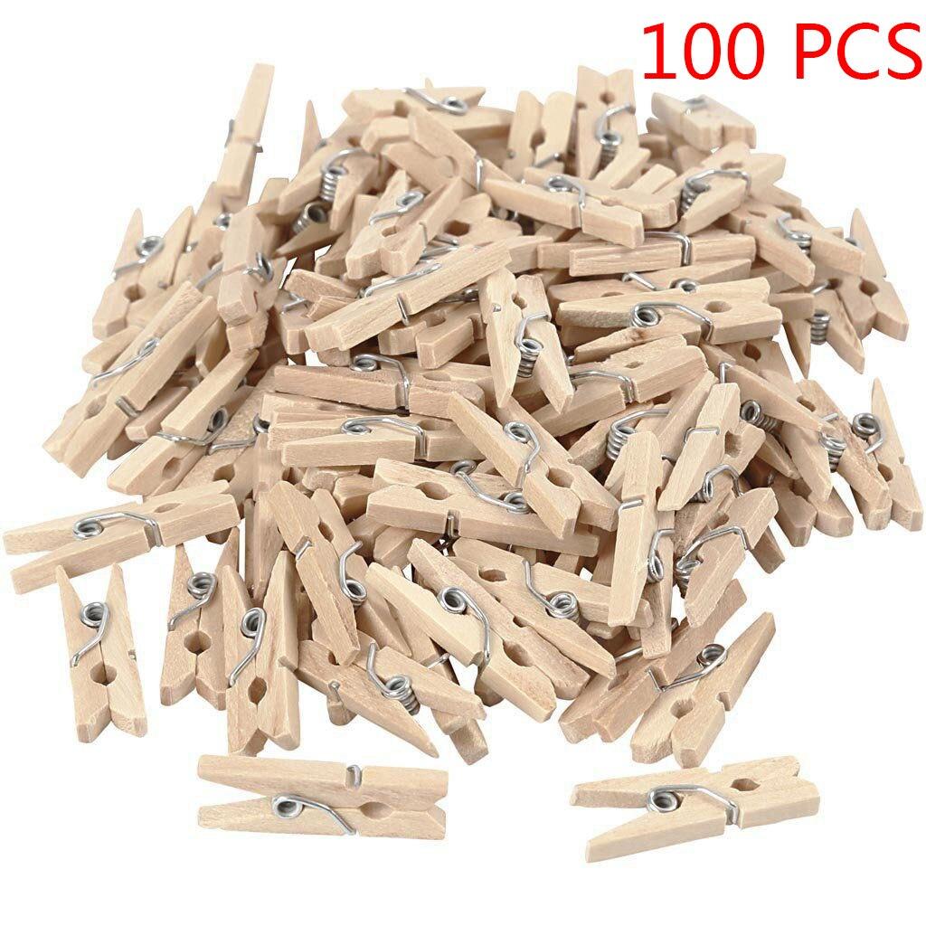 50/100/150/200 шт Размер шахты деревянные зажимы 25 мм фото зажимы Clothe Spin Craft декоративные Зажимы колышки школьные принадлежности