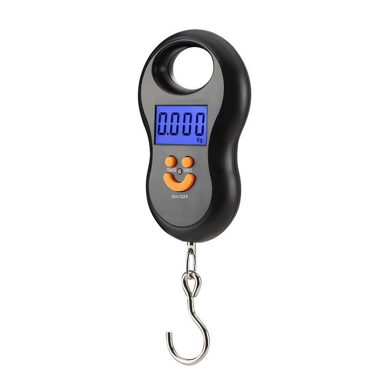 Portable Luggage Mini Digital Scale 50kg/10g Electronic Scale LCD Display Fishing Wight Scale Kitchen Weight Tool Steelyard Hook
