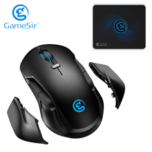 GameSir GM300 Wireless Gaming Mouse + Mouse Pad, Built in Omron Mechanical Switches and PMW3389 Optical Sensor
