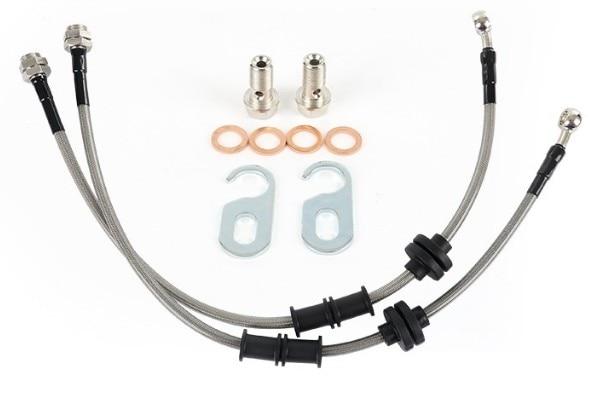 2 pièces pour Audi Q5 TT A6L A3 Q3 A4L A5 S5 modifié frein acier gorge d'origine voiture tuyau tuyau de frein tube