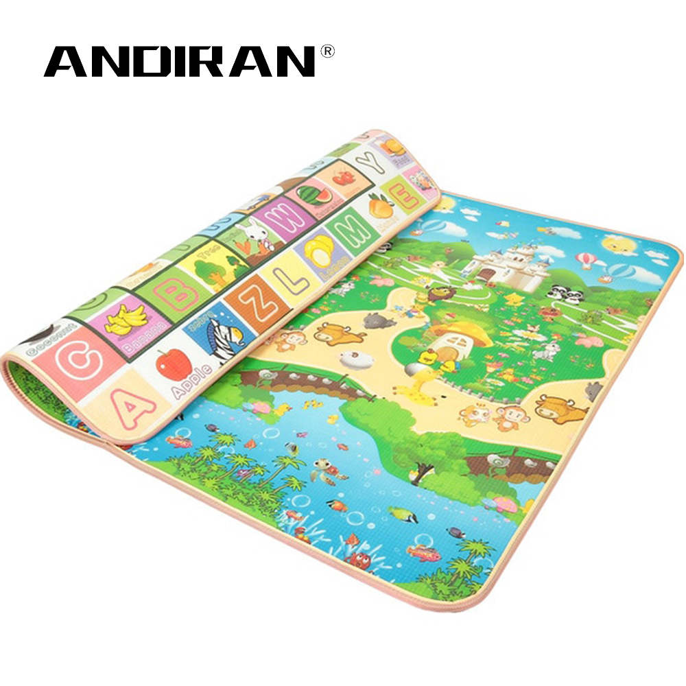 Children Crawling Puzzle Play Mat 200X180X2CM Baby Thickness Double-faced Foam Mat Climb Pad Carpet