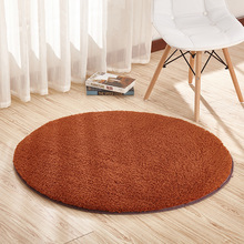 Solid round plush carpets for living room short hair area rug children bedroom non-slip soft shaggy rugs home decor floor mats cheap NoEnName_Null Modern Machine Made Decorative hotel Hand Wash Mechanical Wash Carpet Rug Plush Fabric