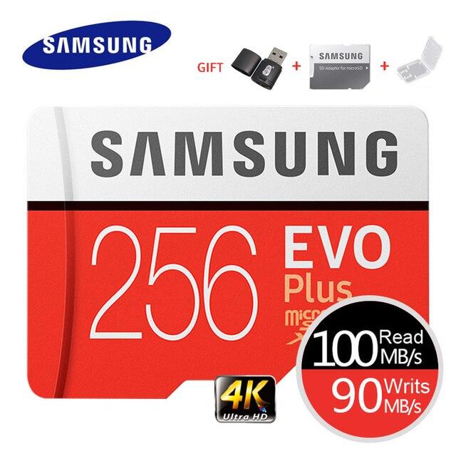 סמסונג זיכרון כרטיס EVO בתוספת 4K Ultra HD מיקרו SD 256GB 128G 64GB Class10 MicroSD כרטיס c10 UHS I Trans פלאש MicroSD כרטיס