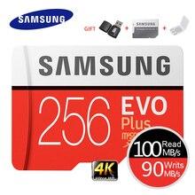 삼성 메모리 카드 EVO Plus 4K Ultra HD Micro SD 256GB 128G 64GB Class10 MicroSD 카드 C10 UHS I Trans Flash MicroSD 카드