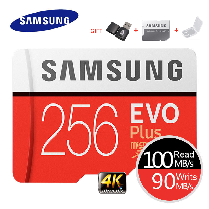 SAMSUNG Memory Card EVO Plus 4K Ultra HD Micro SD 256GB 128G 64GB Class10 MicroSD Card C10 UHS-I Trans Flash MicroSD Card(China)