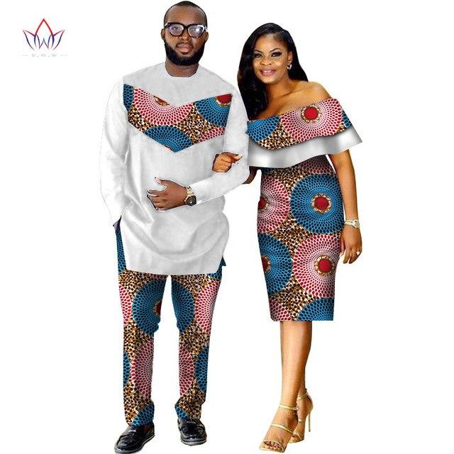 Купить комплект из 2 предметов африканский дашики одежда для пар влюбленных