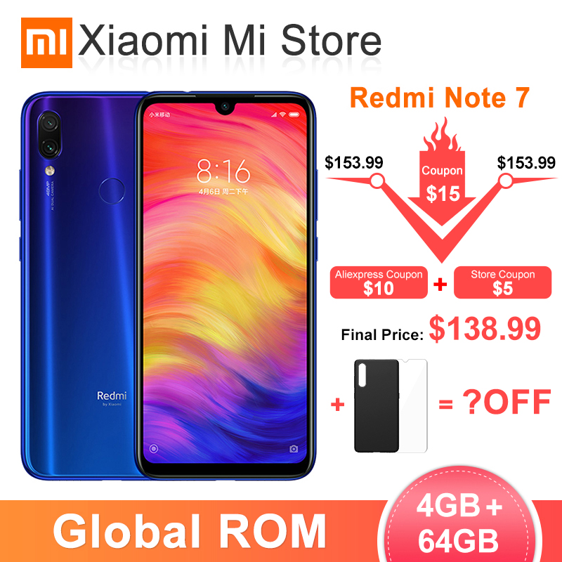 Xiaomi Redmi Note 7 4GB GSM/LTE/WCDMA/CDMA Quick Charge 4.0 Octa Core Fingerprint Recognition
