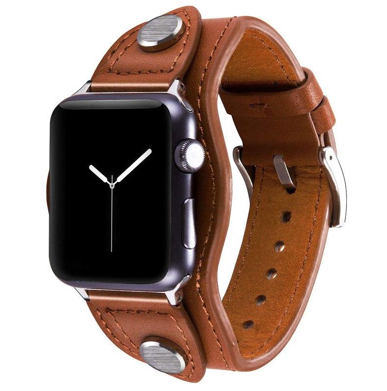 Bracelet de mode pour bracelet de montre apple 44mm 40mm 42mm 38mm iwatch pulseira 5/4/3/2/1 accessoires de bracelet de montre en cuir véritable