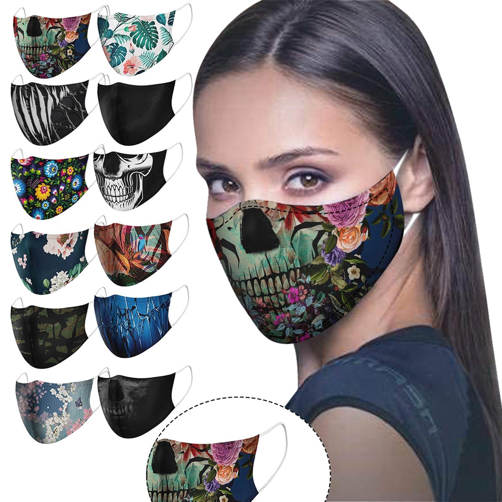 Máscara de cara de ciclista para adulto, mascarilla Facial a prueba de viento, lavable, antisaliva, divertida, # YL5