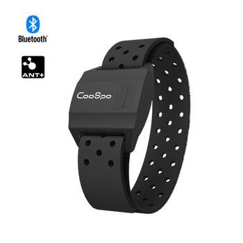 CooSpo Heart Rate Monitor Armband Optical Fitness Outdoor Heart Rate Sensor Bluetooth 4.0 ANT+ For Garmin Wahoo Bike Computer