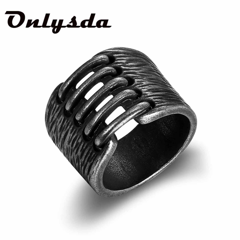 Простое кольцо в стиле викингов из нержавеющей стали, винтажный молот в стиле ретро, панк, классическое мужское кольцо на палец, ювелирное и...