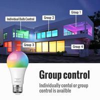 10 w wifi inteligente lâmpada b22 e27 led rgb trabalho com alexa/google casa 85-265 v rgb + branco função temporizador regulável lâmpada mágica