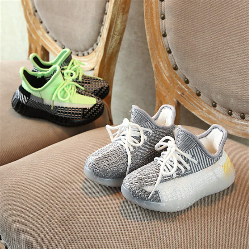 DIMI 2020 Spring / Autumn Children Shoes Boys Girls Casual Shoes Fashion Breathable Knitting Coconut Kids Sneakers