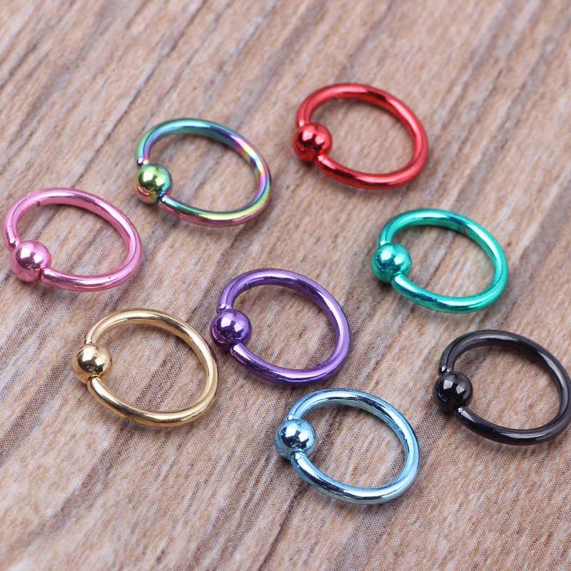 1 pieza de acero inoxidable anillos de segmento aros para la nariz Piercing para la oreja anillos para la nariz Tragus cartílago Tragus Sexy joyería de moda para el cuerpo