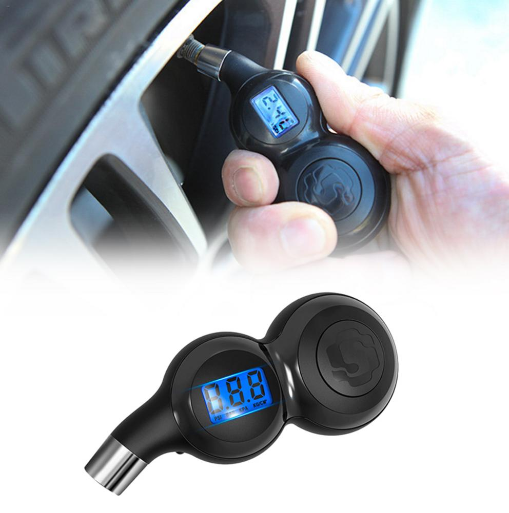 Car Tire Pressure Monitor High Precision Digital Display Barometer Electronic Digital Vent Gas Tire Pressure Gauge