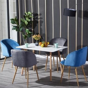 EGGREE Dining Table Kitchen Modern Rectangle for Living Room Bedroom Office Room,Black/White,110x70x73cm