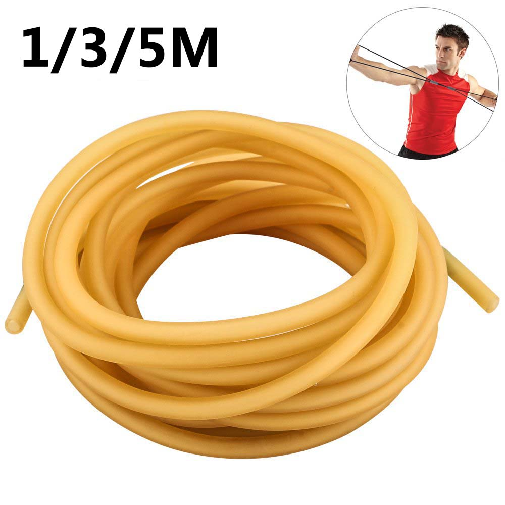 Natural Latex Slingshots Rubber Tube 1/3/5M Replacement Band Hunting Shooting Sling Shot Catapult Sling Tactical Bow Tool