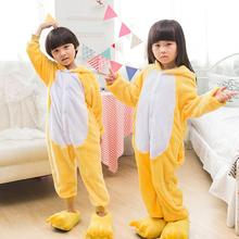 Cute Flannel Animal Pajama-rompers Long Sleeve Cartoon Pajamas for Kids Autumn&Winter