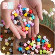 bite bites 10pcs Silicone Beads Food Grade Silicone Star Teether Baby P
