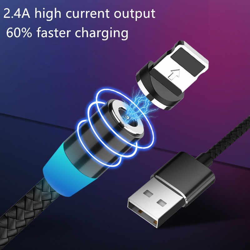USB magnetica Cavo di Ricarica Veloce Per iPhone6 6 7 8 Samsung Xiaomi Caricatore Magnete Tipo C Cavo Del Cavo Del Telefono Mobile filo
