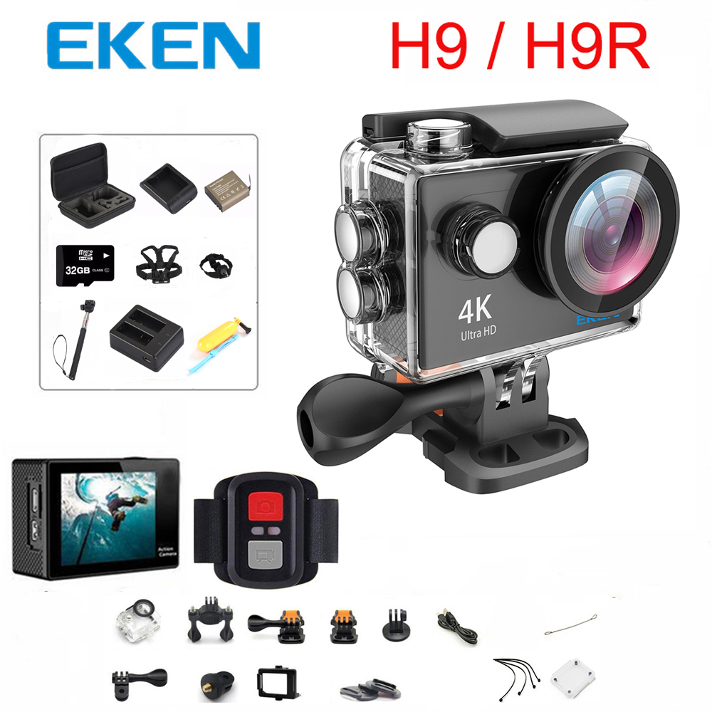 Оригинальная Экшн-камера EKEN H9 / H9R Ultra HD 4K / 30fps WiFi 2,0 дюйма 170D Подводная Водонепроницаемая камера для шлема Vedio Sport pro Cam