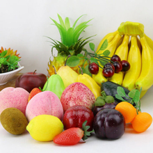 Artificial Fruit Realistic Plastic Simlation Peach Lemon Home Decoration Supermarket Sample Eco Ornament