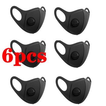 Многоразовые 6 шт. Pm2.5 дышащая уход за кожей лица маска унисекс Тканевые маски защитный Пылезащитный Чехол Обложка для рта для взрослых Моющиеся Многоразовые рот шапки