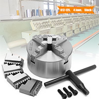 SANOU K12 125 125mm 4 Jaw Self Centering Lathe Chuck with Key for Drilling Milling Machine