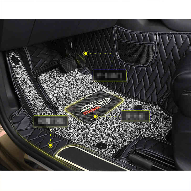 Lsrtw2017 Fiber Leather Car Interior Floot Mat Foot for Skoda Kodiaq GT Accessories