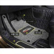 Lsrtw2017 Fiber Leather Car Interior Floot Mat Foot for Skoda Kodiaq GT Accessories