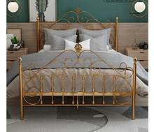 Avrupa tarzı açık lüks demir yatak çift demir yatak tek 1.2m 1.5m 1.8m INS prenses web ünlü demir çerçeve yatak