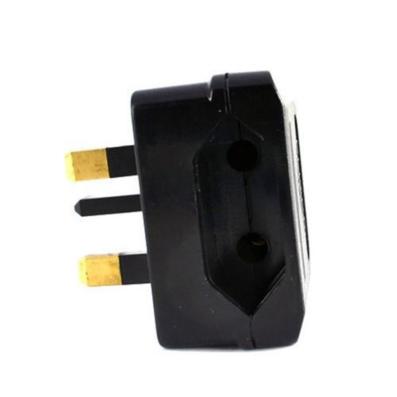 New European Euro EU 2 Pin to <font><b>UK</b></font> <font><b>3Pin</b></font> Power Socket Travel <font><b>Plug</b></font> Adapter Converter image