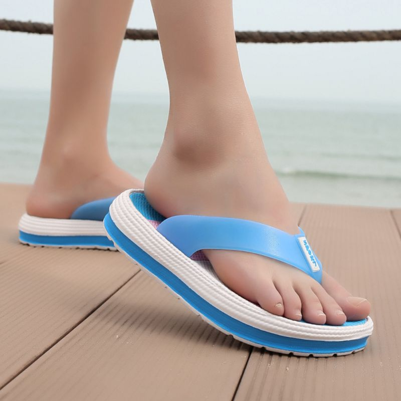 Summer Fashion Concise Women Slipper Casual All-match Anti-slip Color-blocked Flipflop Slipper