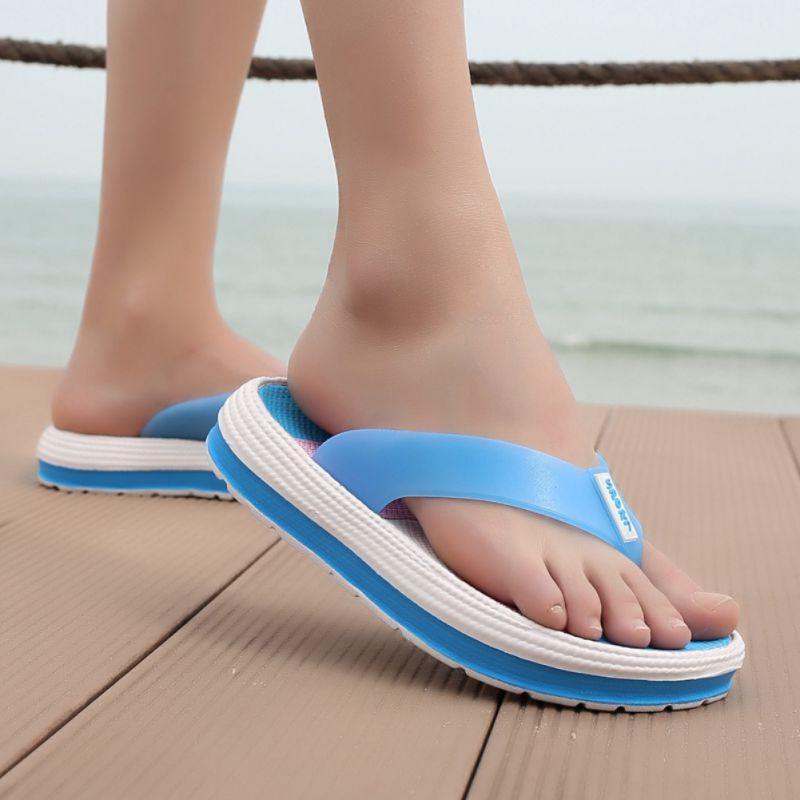 Summer Fashion Concise Women Slipper Casual All-match Anti-slip Color-blocked Flipflop Slipper