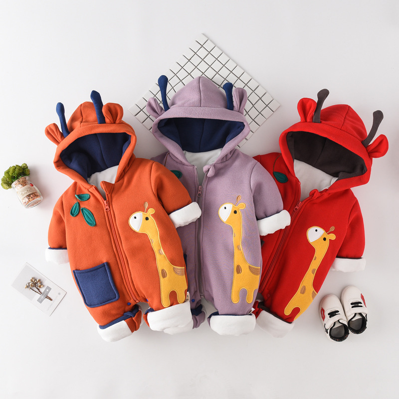 Baby Onesie Winter Newborns Thick out Clothes Cotton-padded Clothes Baby Warm One-piece Climbing Clothes Romper